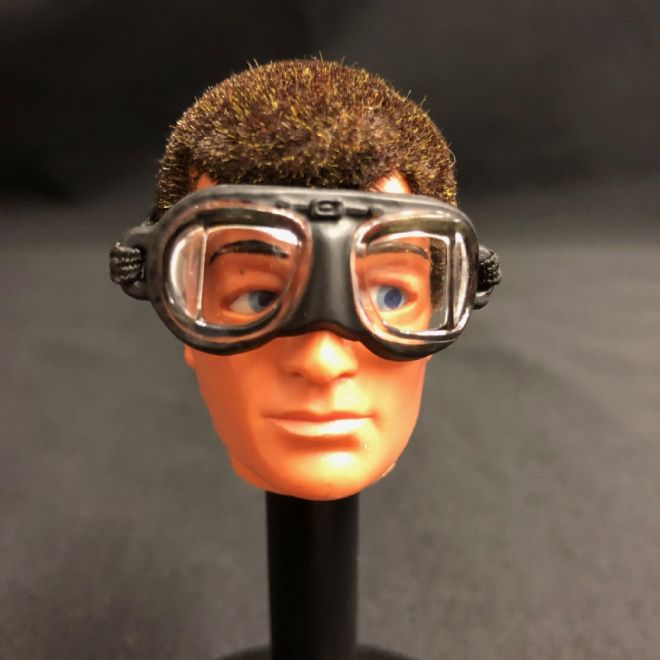 ELITE BRIGADE - BATTLE OF BRITAIN Replacement Goggles (black rimmed) to fit Action Man Gi Joe